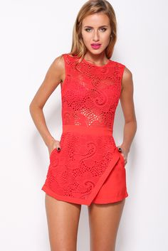 Enchanted Playsuit, Red, $59 + Free express shipping http://www.hellomollyfashion.com/enchanted-playsuit-red.html