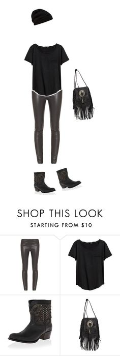 """""""Dark Days"""" by majaklara ❤ liked on Polyvore featuring The Row, H&M, Frye, Yves Saint Laurent and Rick Owens"""