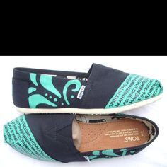 Toms... with a bible verse!