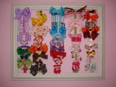 already made something like this for Ellie - such a great way to hang up bows!