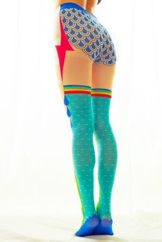Sadako tights series, this is the most original tights I've seen so far, super multicolored and funny