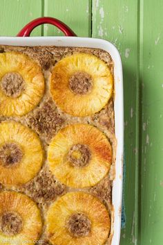 Tropical Pineapple Boozy Baked Oatmeal — Oh She Glows