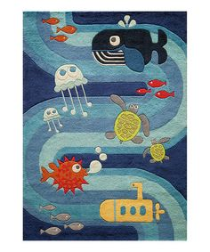 Look at this #zulilyfind! Ocean Life Rug #zulilyfinds