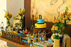 Festa kids: Chá de bebê tema Viagens