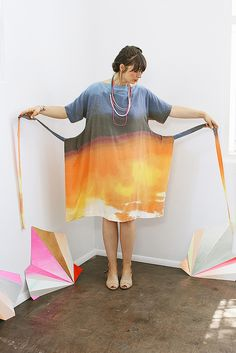This is how the dress looks like when it's not wrapped around you