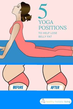 Yoga is an effective exercise that does not require any heavy equipment and has been used for years to strengthen and heal the body. Compiled here are 5 movements that you can use at home to help burn off stubborn belly fat and get your body healthy. #bellyfat #yoga #exercise