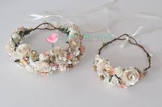 Mommy and Baby Flower Crowns Mother Baby by SweetLittleMelody