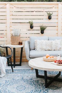 I'm so excited to be jumping on today to share about our newest project – our deck! Two weeks ago spent all weekend stripping the deck, painting it and building privacy decking around the… Cool Deck, Diy Deck, Pergola Designs, Deck Design, Garden Design, Cabana, Deck Makeover, Backyard Makeover, Makeover Before And After
