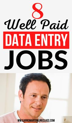 Data entry jobs from home are the perfect work from home jobs for beginners. Data entry clerks can perform simple tasks online and still earn good money. Here are companies offering the best data entry jobs from home to get you started! #dataentryjobs #earnmoneyfromhome #careersfromhome #sidejobstomakemoney Make Money Today, Earn Money From Home, Earn Money Online, Online Jobs, Way To Make Money, Work From Home Careers, Online Work From Home, Work From Home Tips, Online Business Opportunities
