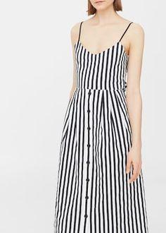 Vestido algodón rayas -  Mujer | MANGO España