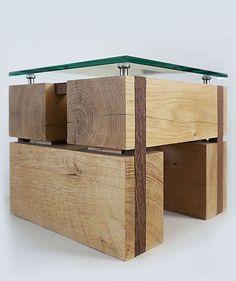 Houtsmederij Kraei - #meubelmaker: #Tafel gemaakt van kopshout en glas