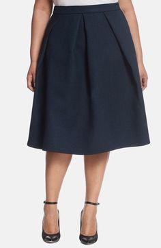 ELOQUII+Studio+Texture+Midi+Skirt+(Plus+Size)+available+at+#Nordstrom