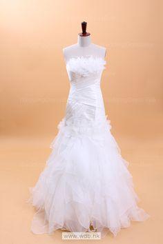 hot sell Sleeveless with Natural waist wedding dress $328.98