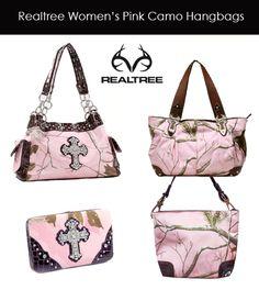 Realtree Pink Camo Handbags and Wallet.