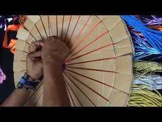 MANDALA EN TELAR PARTE 2 - YouTube