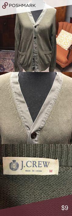 J.Crew sweater Army green cardigan EUC cotton/linen blend J. Crew Sweaters Cardigans