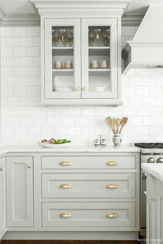 white grey and gold kitchen ivory lane 3 k i t c h e n pinterest grey kitchen white and gold kitchen - White Inset Kitchen Cabinets