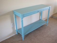 painted console table - Lagoon by Martha Stewart