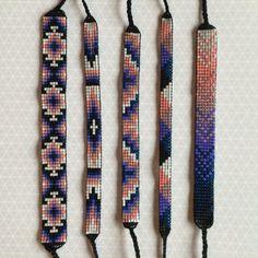 Bead Loom Friendship Bracelets by MichikoJewelry on Etsy