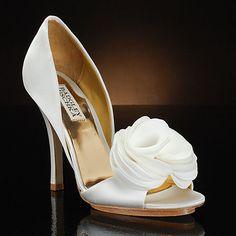 Randall by Badgley Mischka Wedding Shoes at My Glass Slipper Badgley Mischka Shoes Wedding, Wedding Heels, Ivory Wedding, Wedding Bride, Boho Wedding, Wedding Favors, Wedding Rings, White Bridal Shoes, Designer Wedding Shoes
