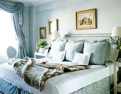 This luxurious bedroom in Hampton's New York apartment is the perfect place for a nap.
