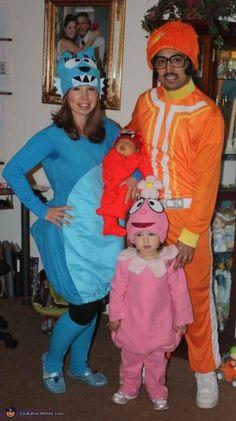 dj lance rock and the rest of the yo gabba gabba gang family halloween costumescute - Swiper Halloween Costume