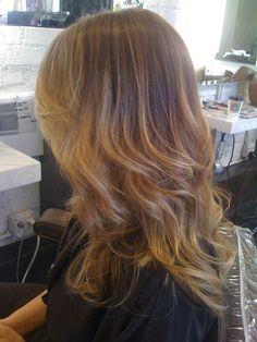 Dark Blonde or Light Brunette. Color by Neil George Salon colorist Kazumi Morton.