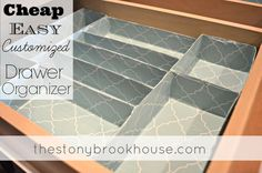 Easy Customized Drawer Organizers http://www.thestonybrookhouse.com