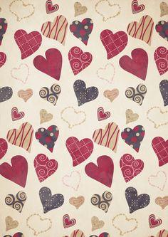 Heart Pattern Art Print vintage pattern