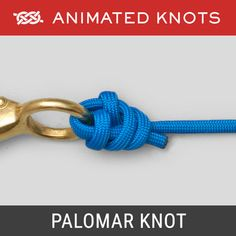 The Palomar Knot is a simple knot for attaching a line to a hook, or a fly to a leader or tippet. The Palomar Knot is regarded as one of the strongest and most reliable fishing knots. Strongest Fishing Knots, Fishing Hook Knots, Bowline Knot, Loop Knot, Palomar Knot, Animated Knots, Scout Knots, Lanyard Knot, Reef Knot