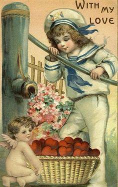 Valentine Vintage Postcard