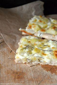 Pizzetta con patate {Pommes de terre - Mozzarella - Romarin}