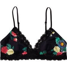 Monki Ronda Bra (63 PLN) ❤ liked on Polyvore featuring intimates, bras, underwear, lingerie, tops, print perfection, lingerie bra, monki and soft cup bra