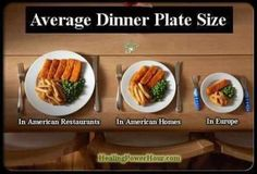 When I was over there I really noticed this, they are much better at portion control than some of us over here.