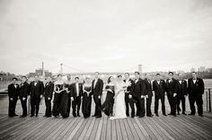Twenties style bridal party (in front of the Williamsburg bridge)