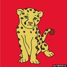baby cheetah coloring page