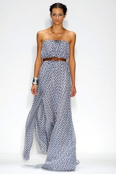 blue  white summer maxi dress fashion
