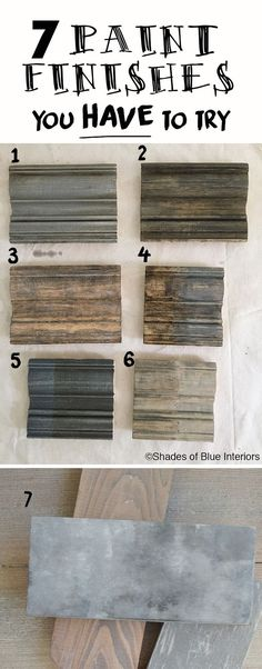 7 Paint Finishes You HAVE to Try- how to to achieve these weathered, gray finishes using 3 basic techniques. - 7 Paint Finishes You Have to Try + Haven Recap - Shades of Blue Interiors Furniture Projects, Furniture Makeover, Wood Projects, Wood Furniture, Furniture Stores, Paint Techniques Furniture, Rustic Painted Furniture, Stain Techniques, Kitchen Furniture