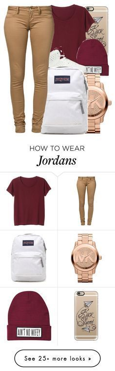 """✨"" by w-ildhearts on Polyvore featuring Casetify, Monki, Dimepiece, NIKE, Michael Kors, JanSport, Monkee Genes, women's clothing, women's fashion and women"