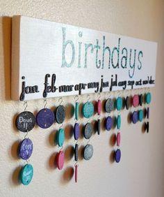 diy calendario cumpleaños:
