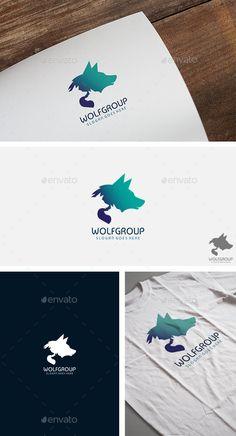 Wolf Group Team Logo Template #design #logotype Download: http://graphicriver.net/item/wolf-group-team-logo/12356823?ref=ksioks