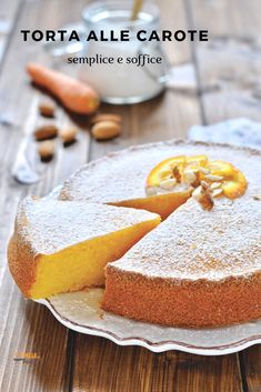 Sweets Recipes, Cake Recipes, Italian Cake, Sweets Cake, Almond Cakes, Something Sweet, Creative Food, Biscotti, Vanilla Cake