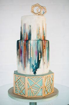 Inspiration behind Olofson Design urban luxe cake.