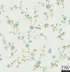 Delphine Light Blue Floral Wallpaper  [FFA-82045] Frederica Frontere   Color: Light Blue   DesignerWallcoverings.com   Luxury Wallpaper   @DW_LosAngeles   #Custom #Wallpaper #Wallcovering #Interiors