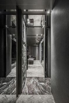 atelierii + just make design: home in black serenity - designboom | architecture & design magazine