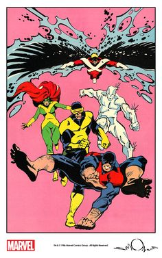 X-Factor by Walt Simonson from Comics Feature Magazine #47 (1986) remastered by The Marvel Project.