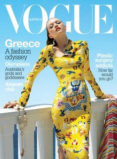 Gemma ward in Yves Saint Laurent on the cover of Vogue Australia September 2004 Vogue Magazine Covers, Fashion Magazine Cover, Fashion Cover, Vogue Covers, Vogue Us, Vogue Korea, Vogue India, Vogue Fashion Photography, Vintage Magazine
