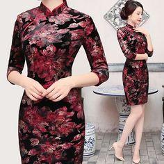 614bd8b1cab77 Diseños elegantes de vestidos chinos de fiesta
