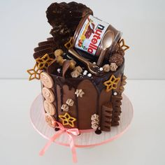 Nutella is the answer.  To EVERYTHING. #nutellacake #nutella
