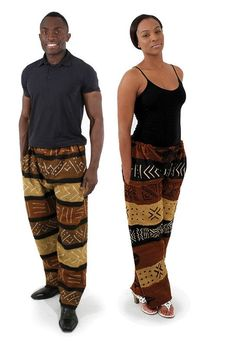 "Mud Cloth Pants 100% mud cloth cotton. Fits up to a 46"" drawstring"